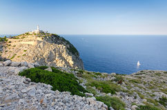 Formentor lighthouse area at sunset Royalty Free Stock Photography