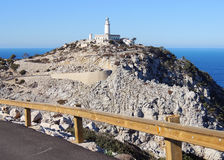 Formentor Lighthouse, Majorca Island. On the way to Formentor Lighthouse - the northernmost point of Mallorca Island. The road winds on the high steep cliffs Stock Photography