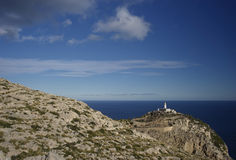 formentor lighthouse in majorca Royalty Free Stock Photo