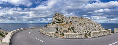 Formentor lighthouse in majorca Stock Photography
