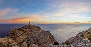 Formentor lighthouse sunrise panorama Royalty Free Stock Photos