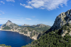 Formentor by the Mediterranean sea on the island of Ibiza in Spa Royalty Free Stock Image