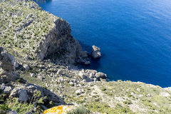 Formentor by the Mediterranean sea on the island of Ibiza in Spa Stock Photography