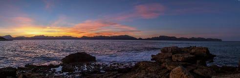 Formentor peninsula panorama Royalty Free Stock Photo