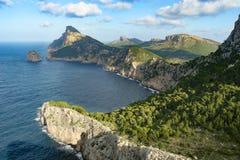 Formentor przylądek, Majorca Hiszpania Zdjęcia Royalty Free