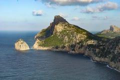 Formentor przylądek, Majorca Hiszpania Fotografia Stock