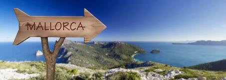 Formentor udde i majorcaen, Balearic Island Arkivfoto