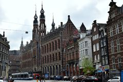 Large shoppingcentre `Magna Plaza` at citycentre Amsterdam royalty free stock images