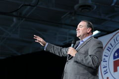 Former Arkansas Governor, Mike Huckabee speaking Stock Image