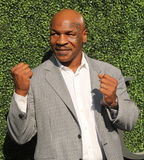 Former boxing champion Mike Tyson attends US Open 2016 opening ceremony at USTA Billie Jean King National Tennis Center Royalty Free Stock Photography