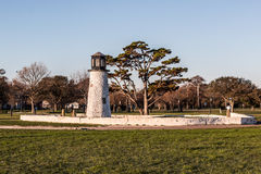 Former Buckroe Beach Miniature Golf Lighthouse in Hampton, Virginia Royalty Free Stock Photo