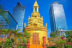 Former Buddha Stupa, Phnom Penh, Cambodia. Royalty Free Stock Images