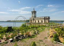 Normanton church on rutland water. Former church and now museum of normanton situated on the banks of rutland water in cambridgeshire stock photography