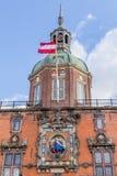 Former city gate in Dordrecht, Netherlands. Dordrecht, Netherlands - June, 21 2018: Former city gate called Groothoofdspoort in Dordrecht, Netherlands royalty free stock image