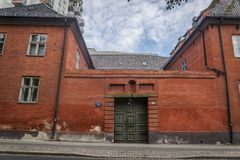 Former city hall building from the 17th century, Oslo, Norway stock photos