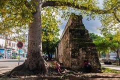 The former city wall in Havana, Cuba Royalty Free Stock Photography