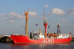 Former ELBE 1 lightvessel Burgermeister O`Swald in Cuxhaven Stock Images