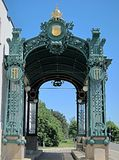 Former entrance to the subway, Imperial Pavilion in Art Deco by Otto Wagner, in Vienna royalty free stock photos