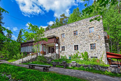 Former Estate Rantala in Sortavala. SORTAVALA, RUSSIA - MAY 28, 2016: Rantala Manor (so-called Apteekkari Jaaskelainen villa) by architect Pauli E. Blomstedt on Royalty Free Stock Photography