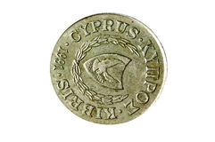 Former European currency of Cyprus Royalty Free Stock Image