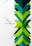Former för futuristiska blått och för grön färg Royaltyfri Foto