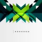 Former för futuristiska blått och för grön färg Royaltyfri Illustrationer