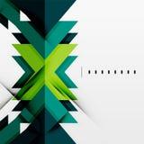 Former för futuristiska blått och för grön färg Arkivbilder