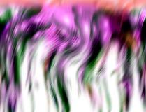 Former för gråa rosa geometrier för lilor bildar fosforescerande gula blåa röda mjuka, toner, på livlig abstrakt bakgrund arkivbilder