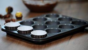 Former för muffinmuffinpapper lager videofilmer