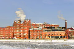 Former factory building of the Red October confectionery (1885) Royalty Free Stock Images
