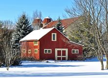 Former Farm. These building remain from a former farm in Michigan royalty free stock photos