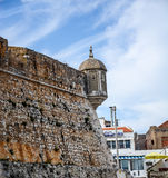 The former fishing village gained fame as a resort for Portugal's royal family in the late 19th century Stock Photos