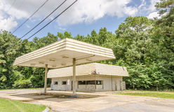 Former Gas Station Royalty Free Stock Photography