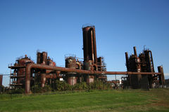 Former gasworks Royalty Free Stock Photo