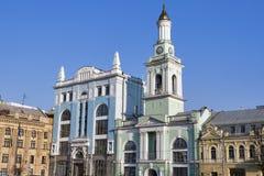 Former Greek Monastery on the Kontraktova Square in Kiev, Ukraine Stock Photo