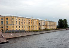 Former hemp warehouses. In St. Petersburg, Russia Royalty Free Stock Images