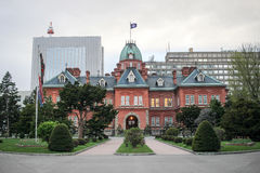 Former hokkaido government office in summer at sapporo Royalty Free Stock Photo