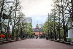 Former hokkaido government office in summer at sapporo japan Royalty Free Stock Photography