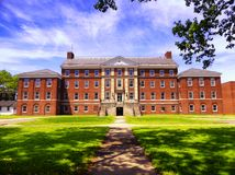 The former hospital on Governors island. National park in Manhattan, new york city, new york Royalty Free Stock Images