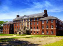 The former hospital on Governors island. National park in Manhattan, new york city, new york Royalty Free Stock Image