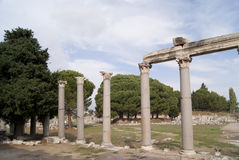 The former house in Ephesus Stock Photos