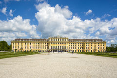 Former imperial summer residence Schonbrunn Palace Stock Photos