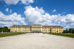 Former imperial summer residence Schonbrunn Palace Stock Photo
