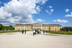 Former imperial summer residence Schonbrunn Palace Royalty Free Stock Photos