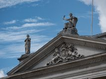 Former Irish Parliament building, now Bank of Ireland, in College Green, Dublin, Ireland royalty free stock photo