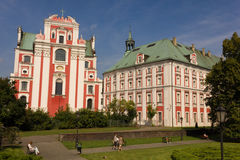 Former Jesuit College & Chopin Park. Poznan. Poland Stock Photo