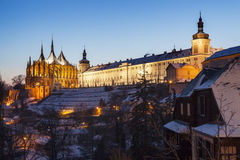 Former Jesuit College and St. Barbara`s Church in Kutna Hora Royalty Free Stock Photo