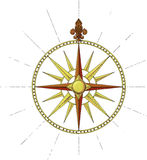 Former Marine Wind Rose symbol Stock Image