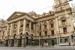 The former Melbourne Post Office 1859 on the corner of Elizabeth and Bourke Streets is now the GPO shopping centre Stock Photography