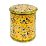 Former metal box decorated with birds (isolated) Royalty Free Stock Image